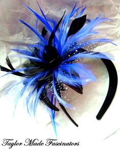 Sapphire and black fascinator