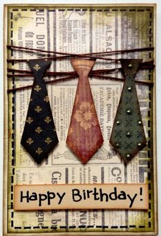 Card: Birthday card for gentlemen :):