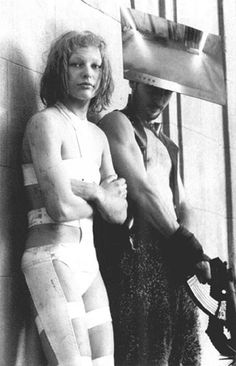 """Milla Jovovich behind the scenes of """"The Fifth Element"""" 1997- YES! This! I want more! Enough with doctor who! This and TNG is where it all started for me :)"""