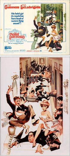 FRANK FRAZETTA - Hotel Paradiso - 1966 MGM - cover by movieposter.com - print by paintings-art-picture.com