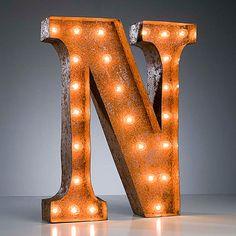 "Fab.com   ""N"" Marquee Light"