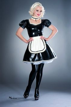 PRODUCT DETAILS Hand pleated ruffle neckline Puff sleeves A line style skirt Short back dressing zip Maid hat, Maid choker and Maid apron are not included Other colours available just ask LOOK AFTER ME I'm fully chlorinated for your ease of use French Maid Dress, French Maid Uniform, French Maid Costume, Latex Wear, Latex Dress, Mendoza, Latex Costumes, Latex Cosplay, Mode Latex