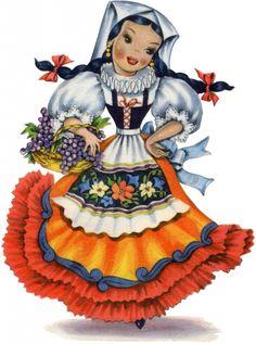 Retro Italian Doll Image! - The Graphics Fairy