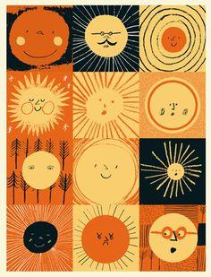 Creative Kids, Rob, Hodgson, and Illustration image ideas & inspiration on Designspiration Sonne Illustration, Cute Illustration, Landscape Illustration, Arte Peculiar, My Sun And Stars, Sun Art, Art Graphique, Sun Moon, Mellow Yellow