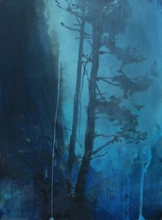 The Trees the Mountain the Moonlight, painting by artist Randall David Tipton