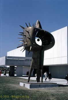 Expo 67 - Tall Couple Sculpture