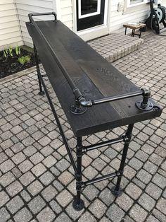 Reclaimed Barn Wood Sofa Bar Table 6 Foot