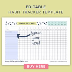 Reach your Goals with this Free Printable Habit Tracker