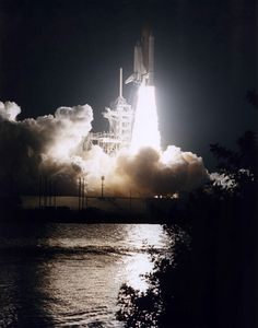 Sept 16, 1996 launch of Space Shuttle Atlantis on STS-79 mission to Russian Space Station Mir. | Photo credit: NASA