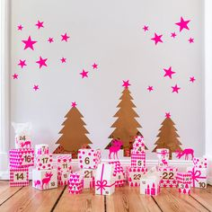 Pink and gold advent calendar