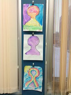 The Middle School Counselor: All About Me and a great way to hang up student artwork