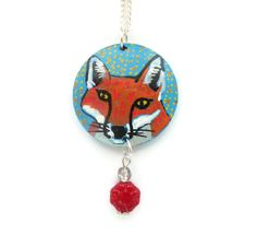Fox Necklace, Fox Jewelry, Fox Pendant, Animal Pendant, Fox Jewellery, Animal Jewelry, Woodland Necklace, Cute Necklace, Wildlife Necklace by Larryware on Etsy