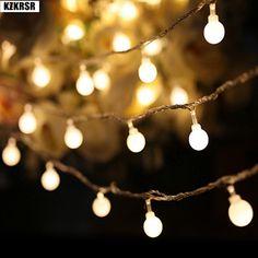 KZKRSR AC110V 220V 10M 30M 50M led string light with Small White ball holiday decoration Fairy Light Festival Xmas Wedding Light  Price: 19.00 & FREE Shipping  #tech|#electronics|#bluetooth|#computers