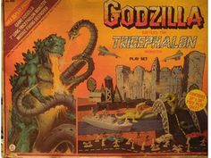 Godzilla vs the Tricephalon Monster Playset