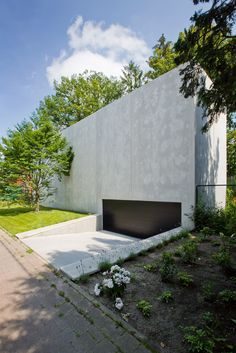 icoon.be architecten concrete minimalist house