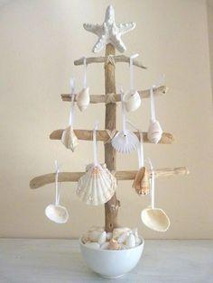 Elegant Seashell Christmas Tree