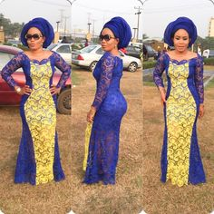 Lovely Lace Gown Design for Ladies . Lovely Lace Gown Design for Ladies African Lace Dresses, African Dresses For Women, African Attire, African Wear, African Fashion Dresses, African Women, African Style, African Outfits, Ankara Fashion