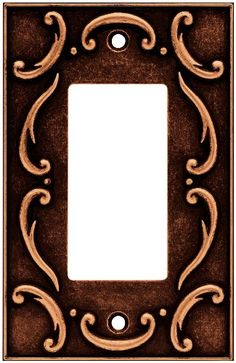 brainerd french lace single decorator wall plate switch plate cover sponged copper