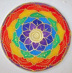 Balance Mandala Chakra Mandala mandala art by HeavenOnEarthSilks, $34.00