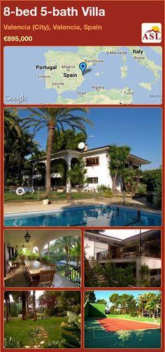 8-bed 5-bath Villa in Valencia (City), Valencia, Spain ►€895,000 #PropertyForSaleInSpain