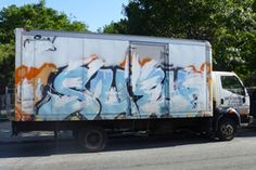 Did an abstract expressionism just use this truck as his canvas? I'm confused.