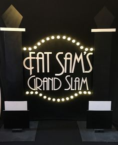Fat Sam's Grand Slam Sign to hire from Tiggs Props BM21. Bugsy Malone.