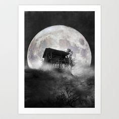 When the moon speaks (part V) Art Print by Viviana González - $19.95