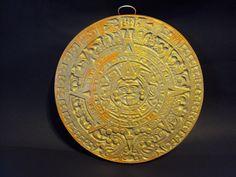 Aztec Calendar, Stone, 13 Diameter, Over Six Pounds, ooak finish via Etsy