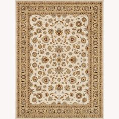 $724 free shipping on Overstock        Primeval Ivory/ Beige Oriental Rug (11'2 x 14'6)