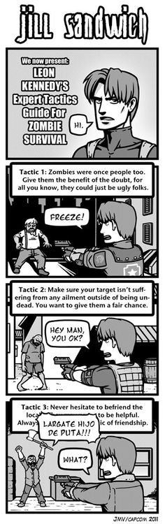 Leon Kennedy tactics