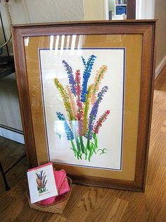 More class projects Thumb print flowers – large framed painting or small handmade greeting cards Class Auction Projects, Group Art Projects, Collaborative Art Projects, Classroom Art Projects, Art Classroom, Auction Ideas, Preschool Auction Projects, Fingerprint Art, Handprint Art