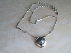 Vintage Sarah Coventry Choker Dark Grey Abstract by JypsyJewels