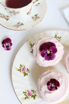 Recipe; Lemon Cupcakes with Raspberry Buttercream Frosting