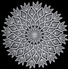 How to Crochet Pineapple Doily Star [Free Written Pattern]