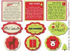 étiquettes minibouts kit cookies noël