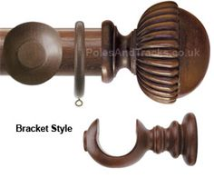 Florentine 50mm Dark Oak Curtain Pole with Ball and Vase Mono finials  £170.40 (Including VAT at 20%)