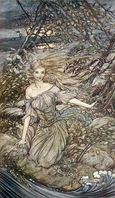 АРТУР РЭКХЕМ Иллюстрации к книге Фридрих де ла Мотт Фуке Ундина