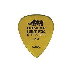 Dunlop 433P73 .73mm Ultex Sharp Guitar Picks, 6-Pack Jim Dunlop