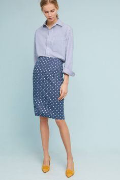 Shop the Polka Dot Chambray Pencil Skirt and more Anthropologie at Anthropologie today. Read customer reviews, discover product details and more.