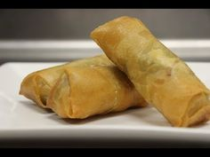 How to Make Spring Roll (with Shrimp and Pork) - YouTube