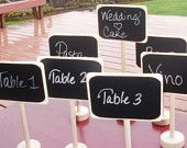 Tropical Wedding Chalkboard Table Stands by Let's Talk Chalk Place Settings Destination Beach Hawaii Wedding Food Marker DIY. $100.00, via Etsy.