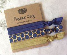 Pack  3 gomas elásticas, Hair ties, Pulseras, Yoga de Gemasymas por DaWanda.com