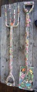 Spring garden ideas- mosaic garden decor
