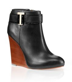 These are beautiful!  Tenley Wedge Bootie | Womens Boots & Booties | ToryBurch.com