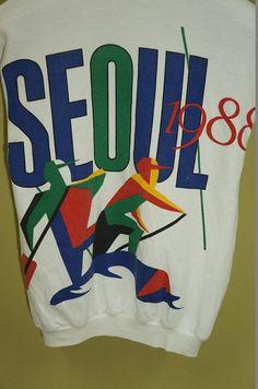 Puma Seoul Summer Olympic Big Logo Vintage by BestOfferVintage Retro Sportswear, Logo Vintage, Summer Olympics, Seoul, Ski, Vogue, Graphics, Trending Outfits, Handmade Gifts
