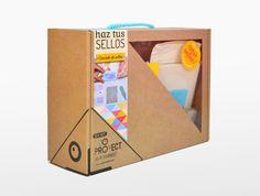 Kids Packaging, Pretty Packaging, Brand Packaging, Packaging Design, Kids Craft Box, Craft Kits, Diy Kits, Cardboard Toys, Paper Toys