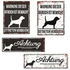 Dekoration Achtung Hund,hundeschild,warnschild,gravurschild,12 X 8 Cm,freilaufender Hund Möbel & Wohnen