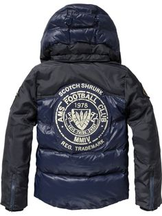 Worked-out mix down jacket with detachable hood - night - 4 - 3