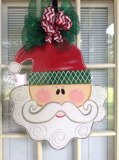 Santa door hanger Merry Christmas Ready to Ship. por samthecrafter, $37,00