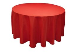 """A simple but festive statement, this Red 90"""" tablecloth is stain and wrinkle resistant! These two things - combined with the beautiful Valentine's Day red color - are just enough to make your wedding even more special! http://www.tableclothsfactory.com/Red-90-Round-Tablecloth-p/d15a_tab_90_red.htm"""